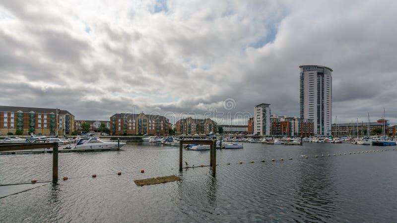 Bassin de Tawe à Swansea C images libres de droits