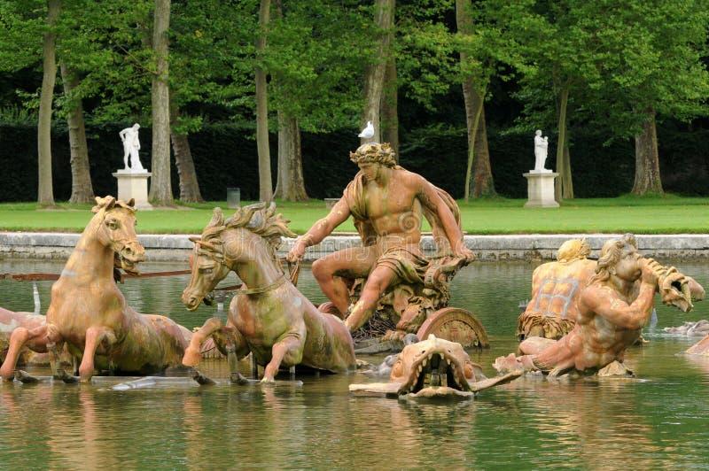 Γαλλία, Bassin du Char δ Apollon στο πάρκο των Βερσαλλιών palac στοκ φωτογραφίες