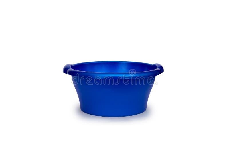 Bassin en plastique de lavage/nettoyage - bleu images libres de droits