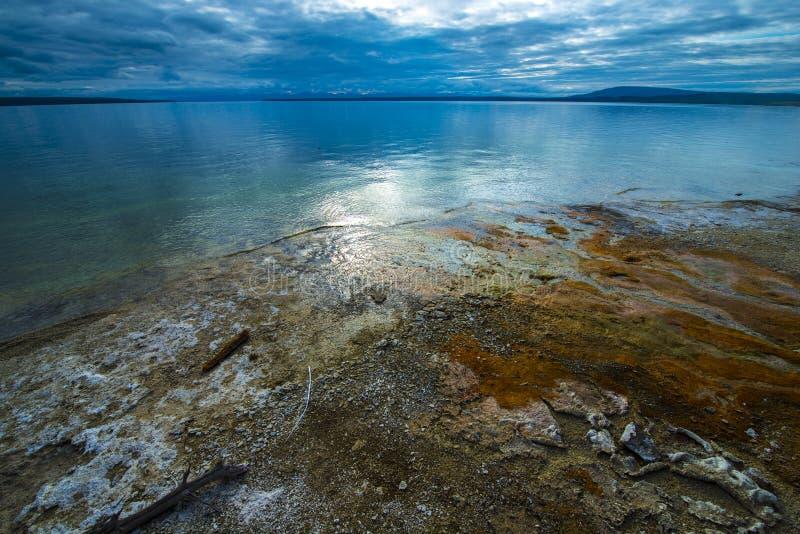 Bassin occidental Yellowstone de geyser de pouce photo stock