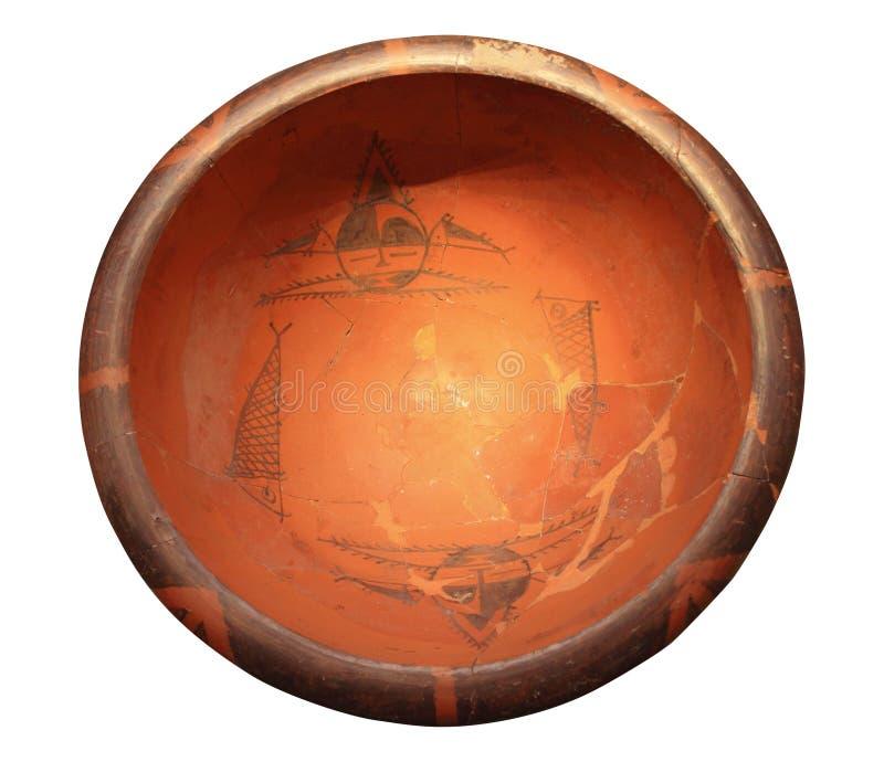 Bassin peint de poterie photo libre de droits