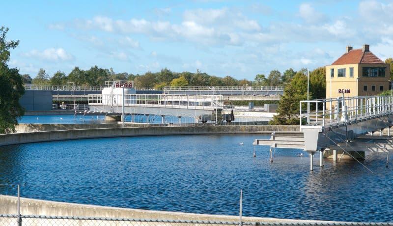 Bassin Waste do tratamento da água fotos de stock royalty free