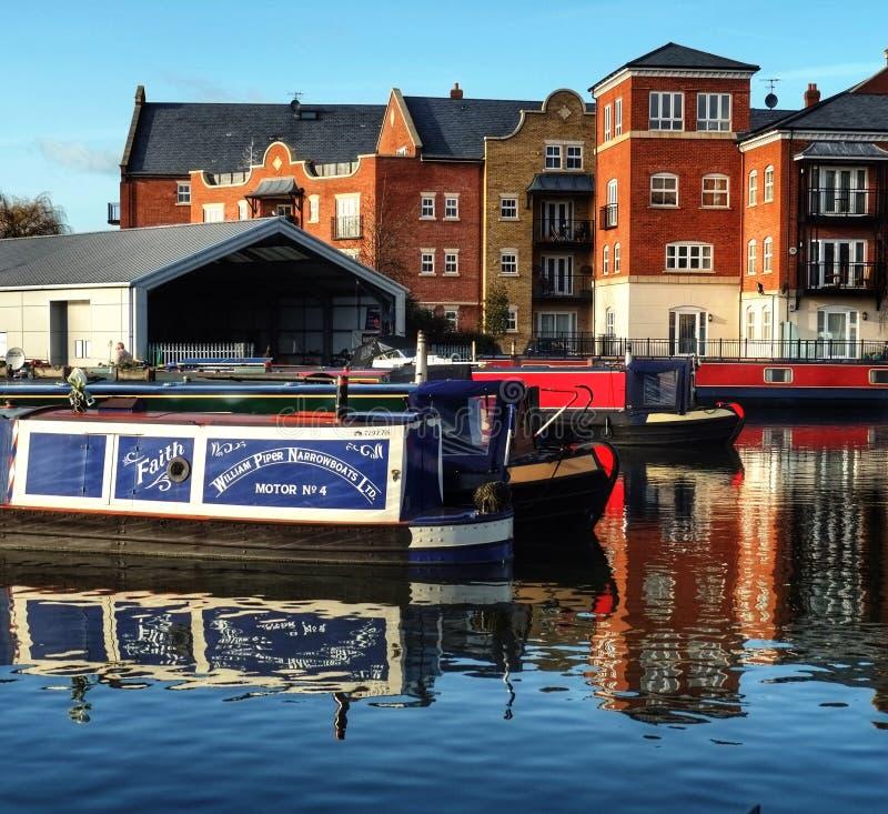 Bassin Worcester R-U de canal photographie stock