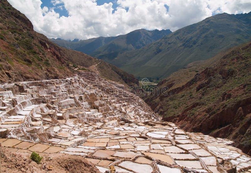 Bassins antiques de sel image libre de droits