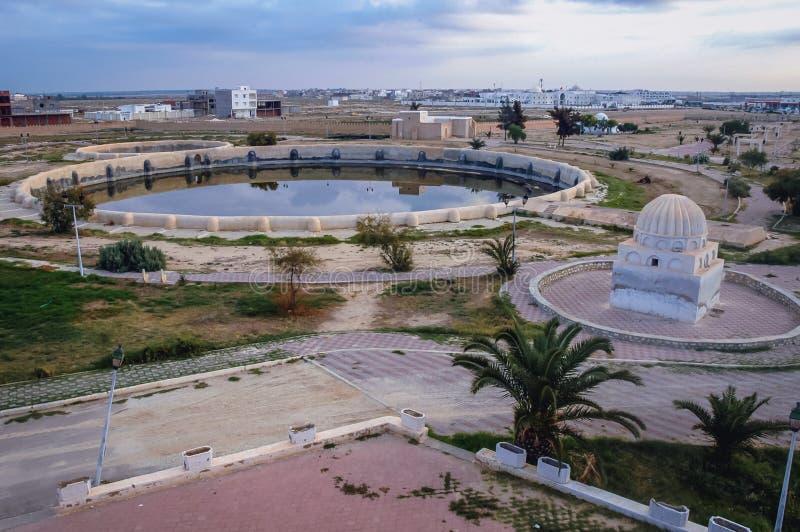 Bassins d'Aghlabid dans Kairouan photos stock
