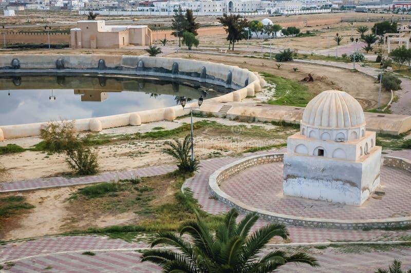Bassins d'Aghlabid dans Kairouan photo stock