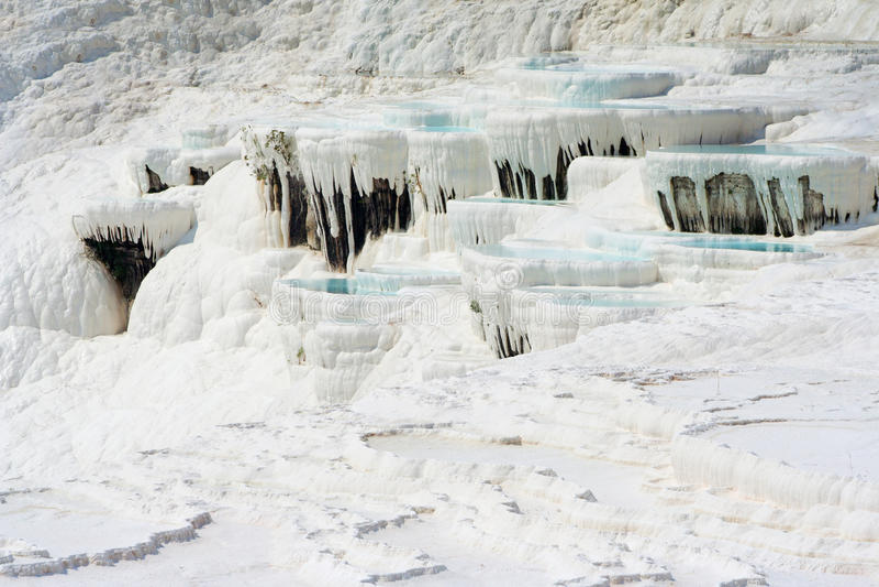 Bassins de Pamukkale photos stock