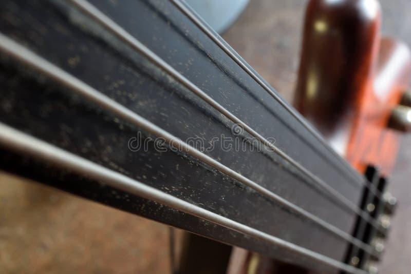 Basslines III Bass Guitar elettrico astratto fotografia stock