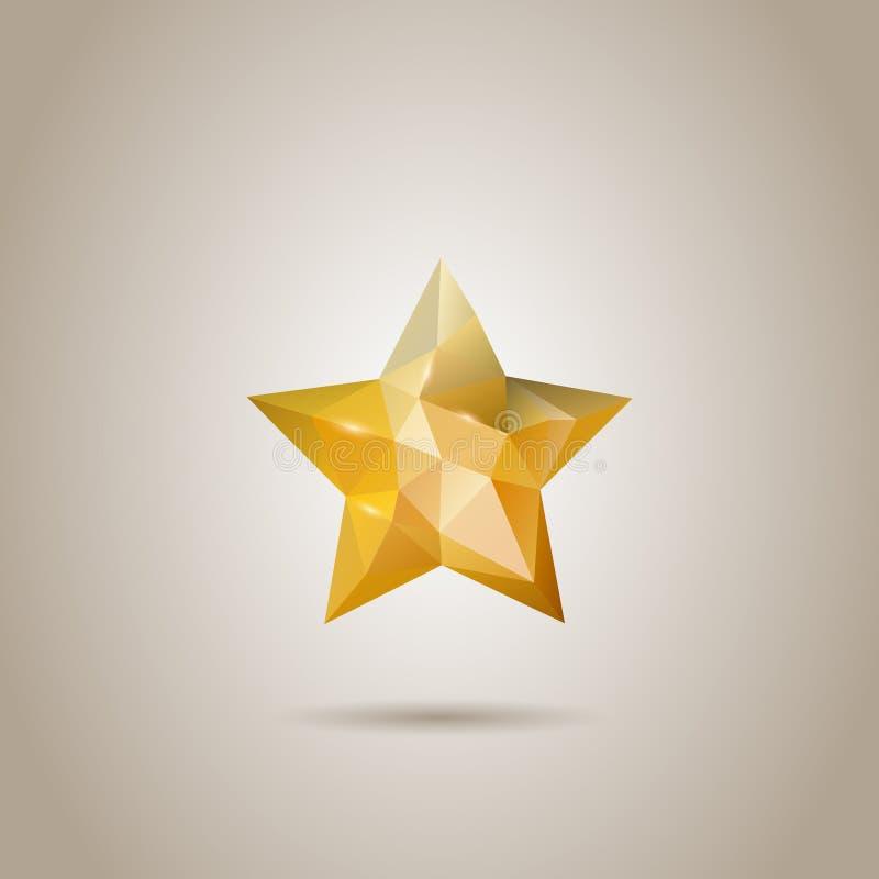 Basso poli stella poligonale astratta illustrazione di stock