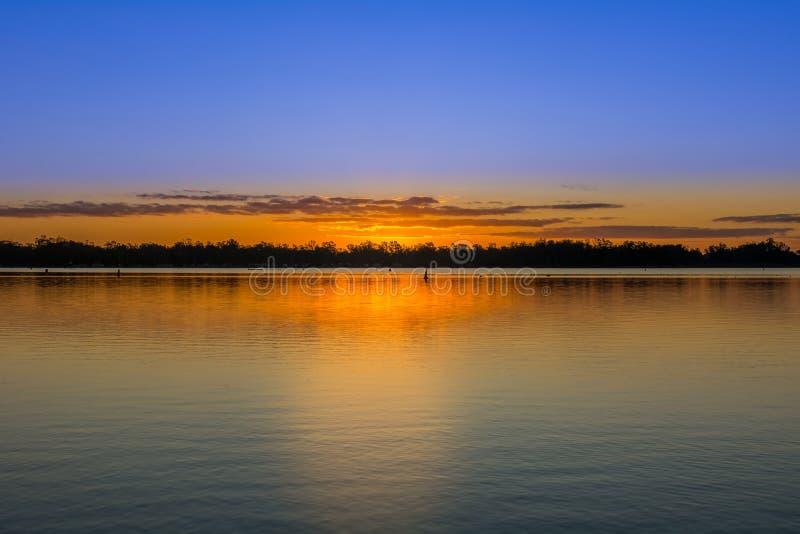 Bassofondi al nagambie del lago fotografia stock