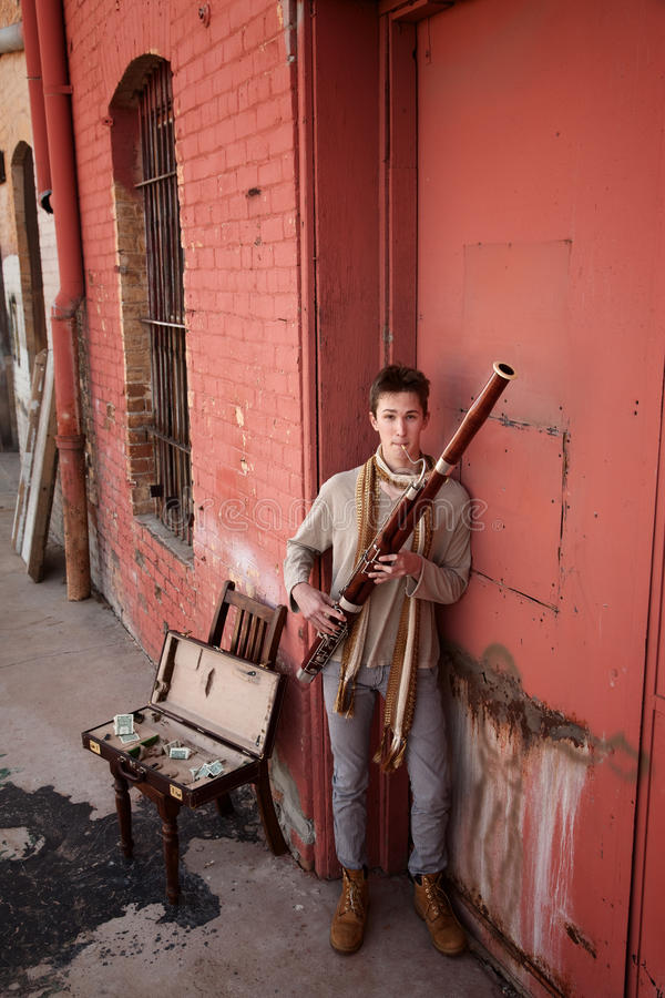 Download Bassoon Musician In Indian Attire Stock Photo - Image: 18840684