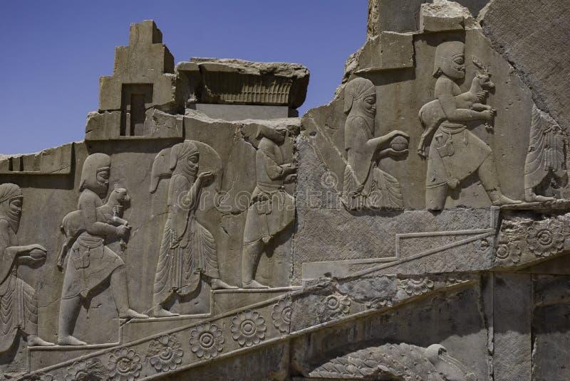 Bassorilievi in Persepolis, Iran fotografie stock libere da diritti