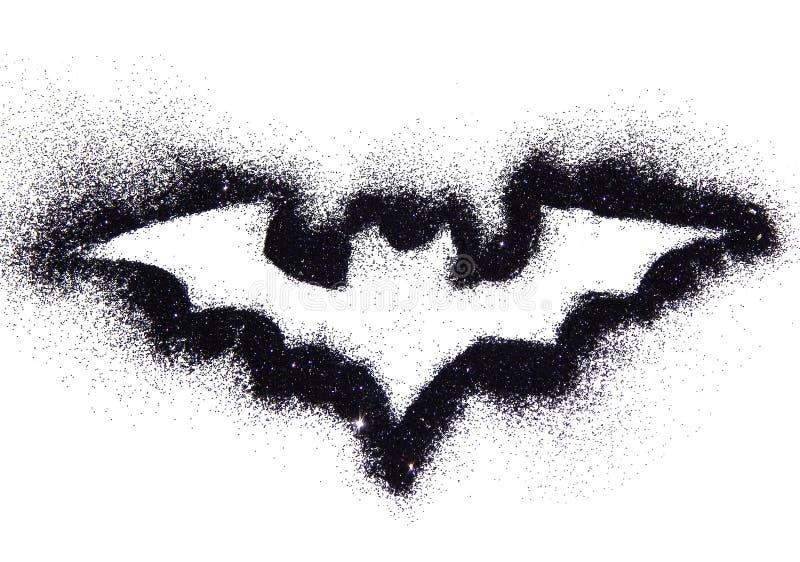 Bastão abstrato do brilho preto, símbolo festivo de Dia das Bruxas fotografia de stock