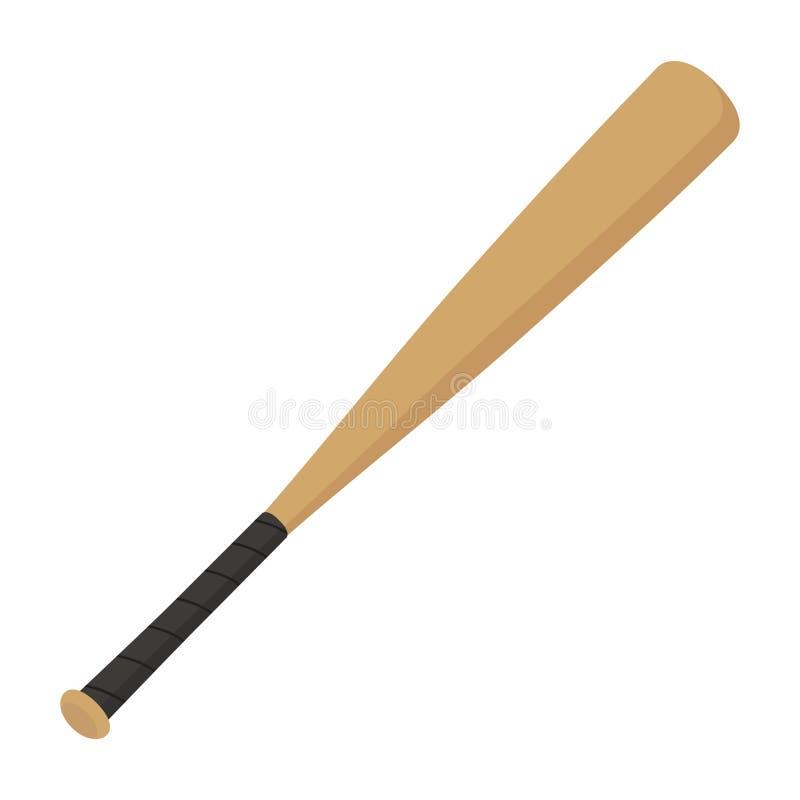 Bastão de beisebol liso do ícone ilustração stock