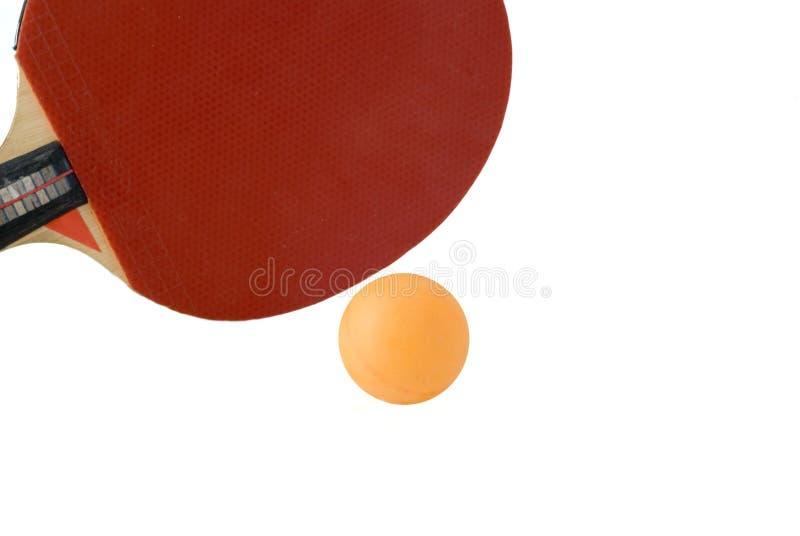 Bastão e esfera do tênis de tabela imagens de stock