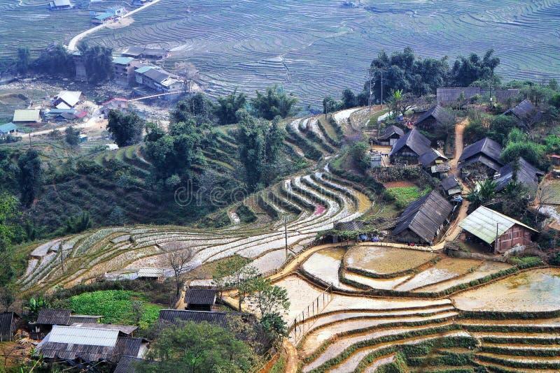 Bastão Xat, Lao Cai, Vietname imagens de stock royalty free