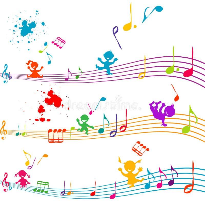 Bastón coloreado con los cabritos que cantan libre illustration