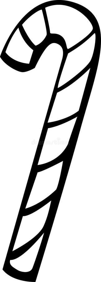 Bastón de caramelo stock de ilustración