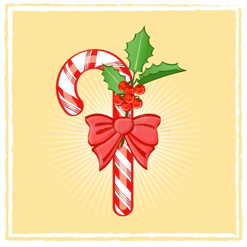 Bastón de caramelo ilustración del vector
