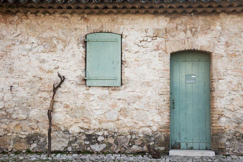 Bastón de la ventana de la puerta fotos de archivo
