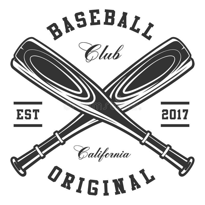 Bastões de beisebol ilustração royalty free