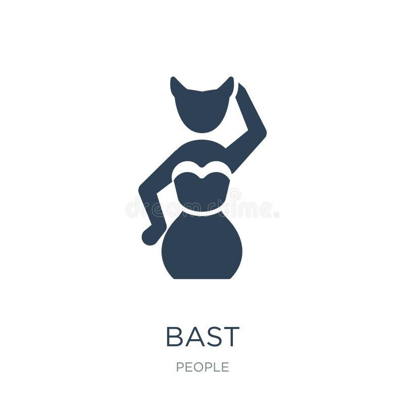 bast ikona w modnym projekta stylu bast ikona odizolowywająca na białym tle bast wektorowej ikony prosty i nowożytny płaski symbo ilustracji