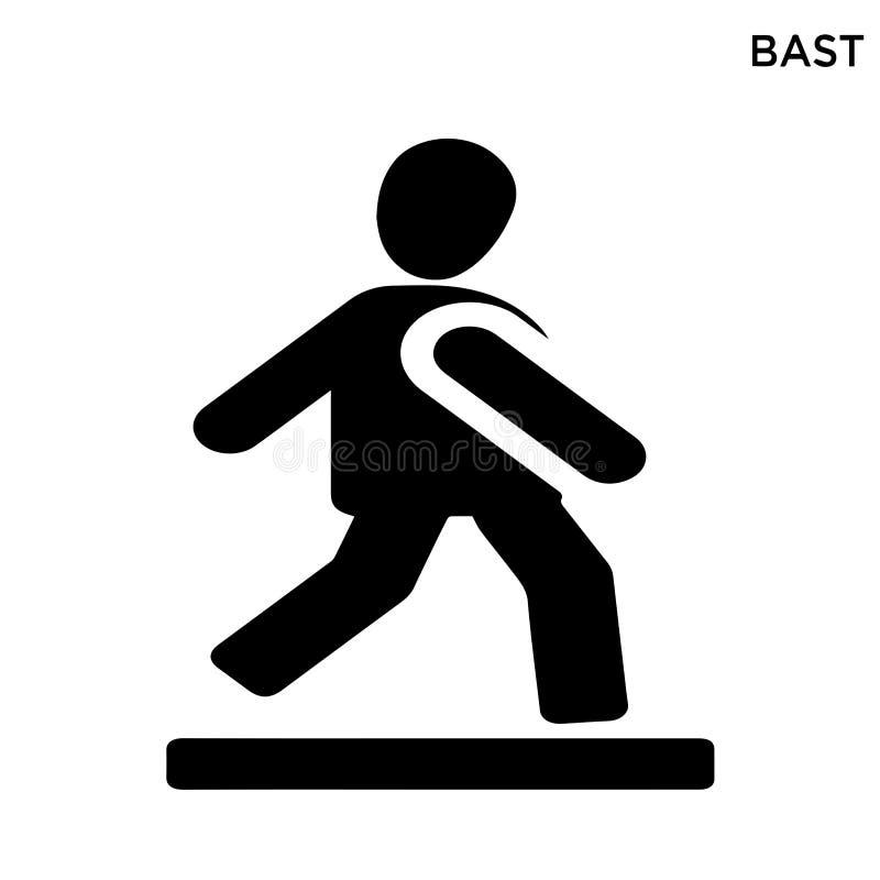Bast ikony bielu tło ilustracji