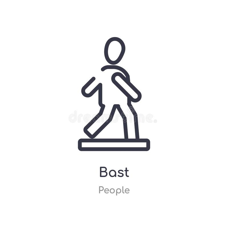 Bast outline icon. isolated line vector illustration from people collection. editable thin stroke bast icon on white background. Bast outline icon. isolated line stock illustration