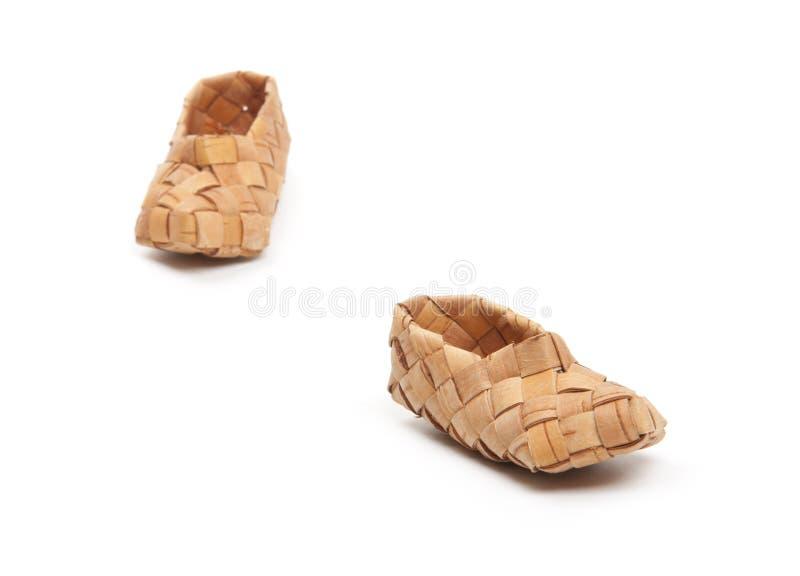 Bast Shoes, Isolated Stock Photography
