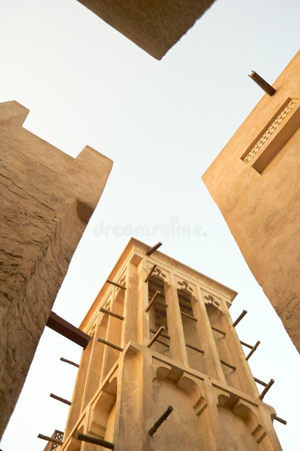 Bastakiya Windtowers immagine stock libera da diritti