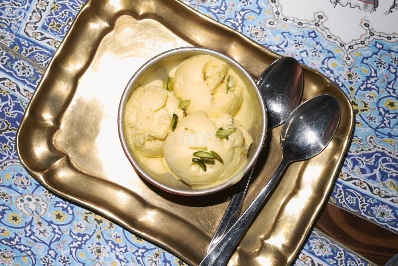 Bastani glass för efterrätt royaltyfria bilder