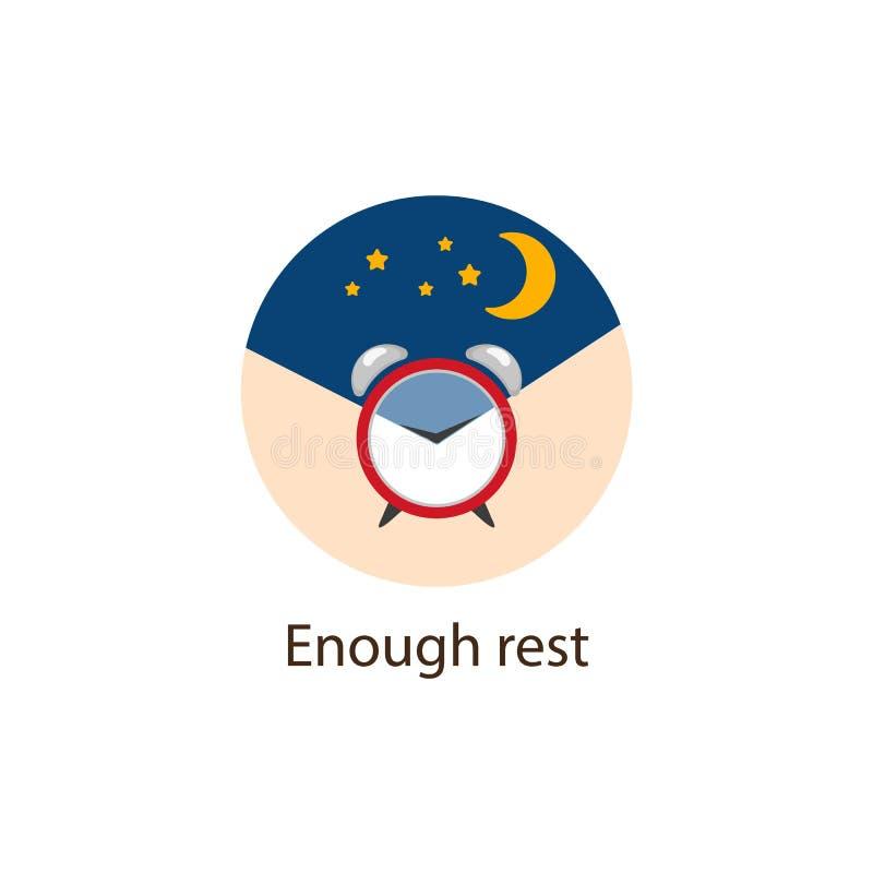 Bastantes descansan alrededor del icono plano, concepto del bienestar ilustración del vector