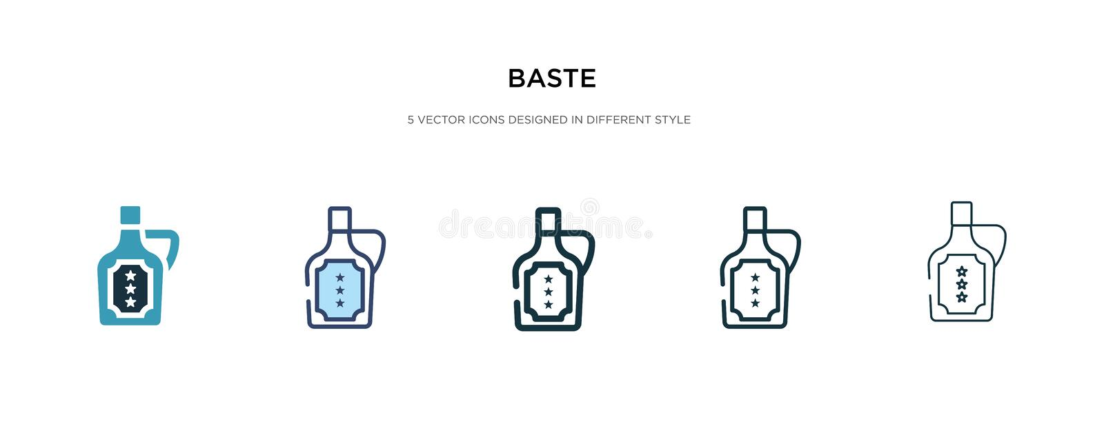 Baste icon in different style vector illustration. two colored and black baste vector icons designed in filled, outline, line and royalty free illustration