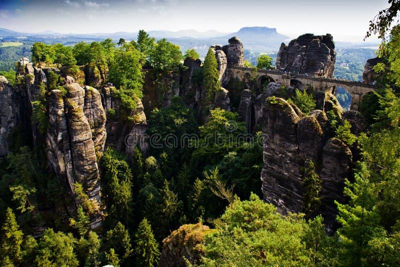 Bastei In Saxon Switzerland Stock Photo