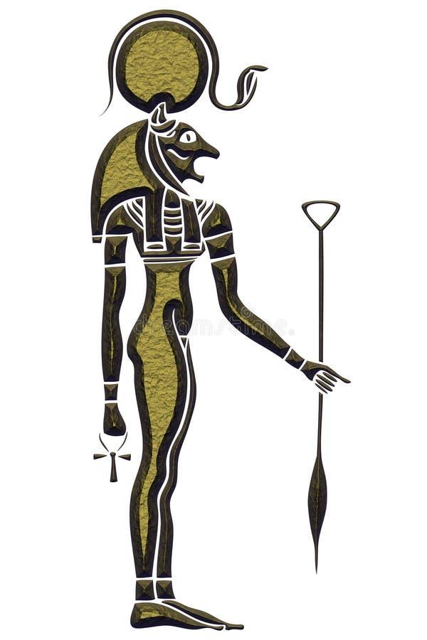 Bastet - diosa de Egipto antiguo stock de ilustración