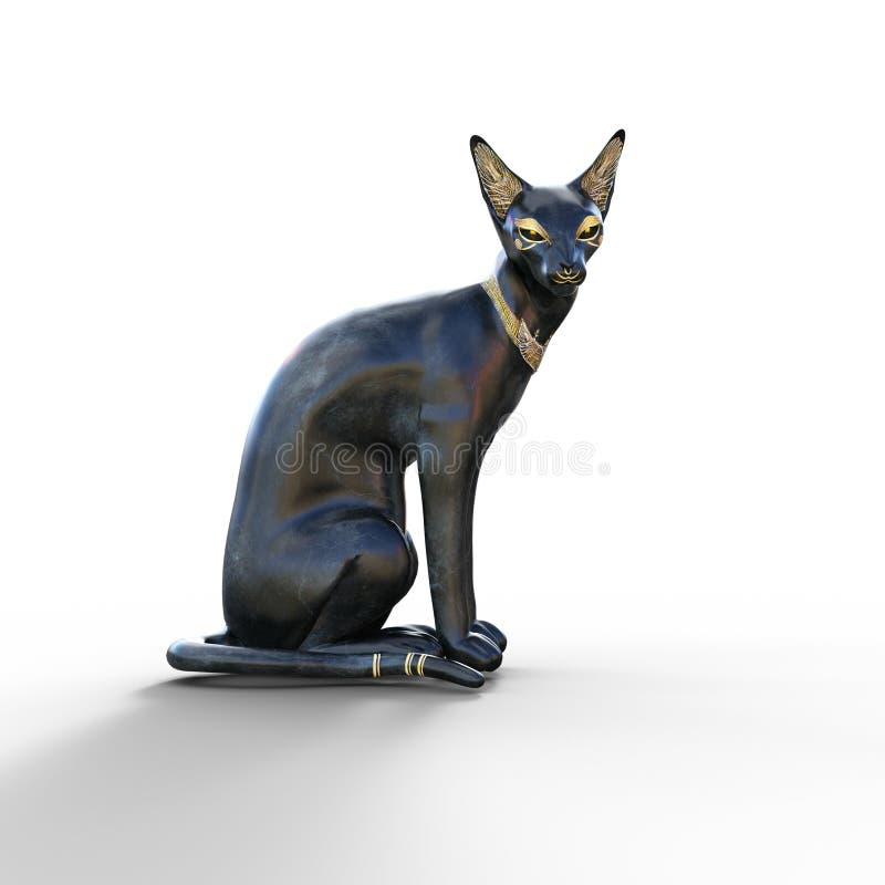 Bastet el gato ilustración del vector