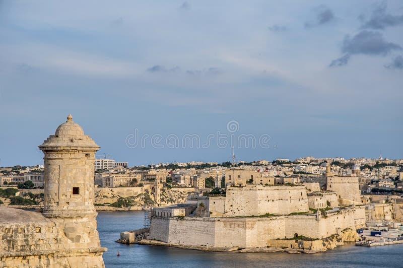 Bastião de Lascaris do forte em Valletta, Malta imagens de stock royalty free