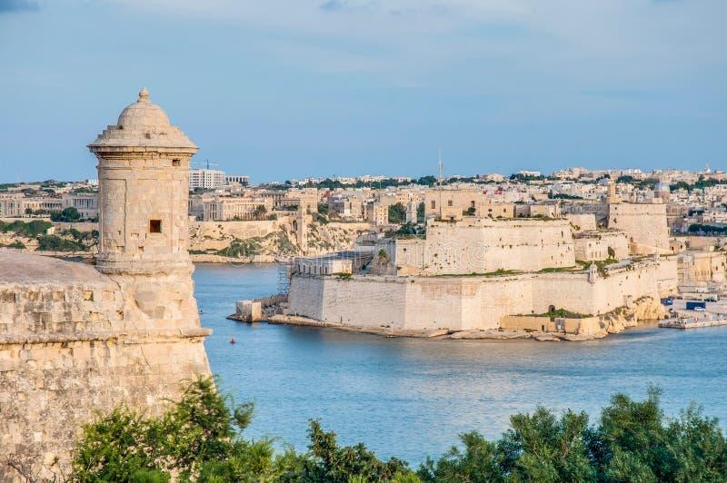 Bastião de Lascaris do forte em Valletta, Malta imagem de stock royalty free