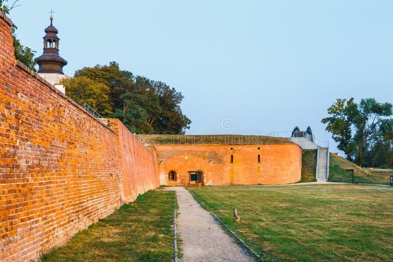 Bastión de la fortaleza vieja en Zamosc, Polonia fotos de archivo
