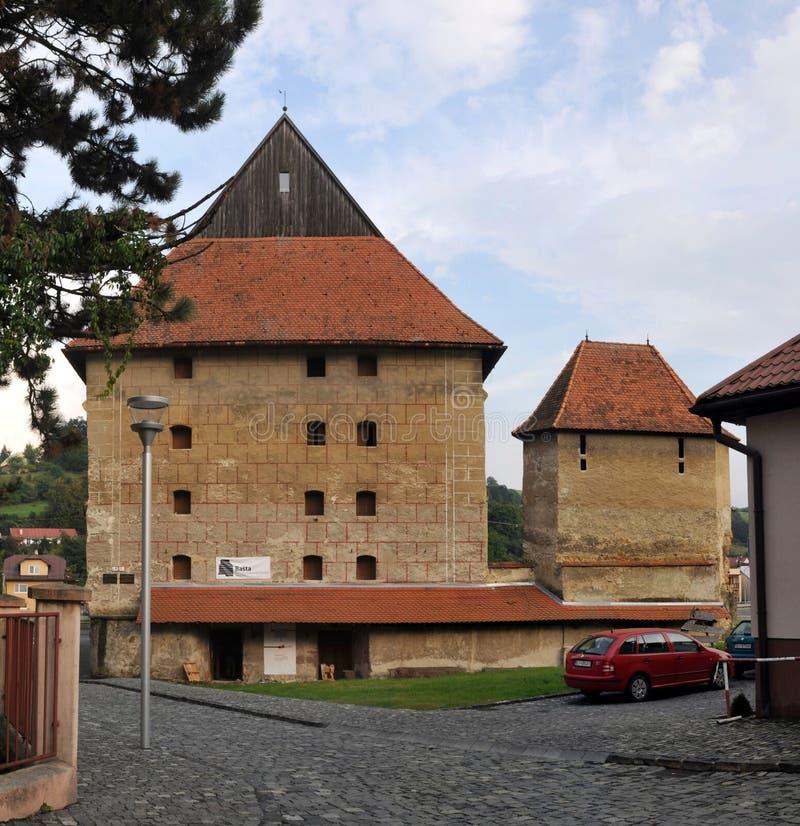 Bastión grueso en Bardejov - Eslovaquia imagen de archivo