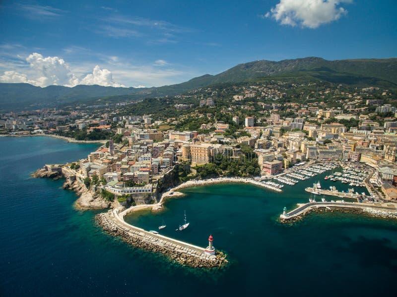 Bastia, Corsica. Arial view of Bastia, Corsica royalty free stock photography
