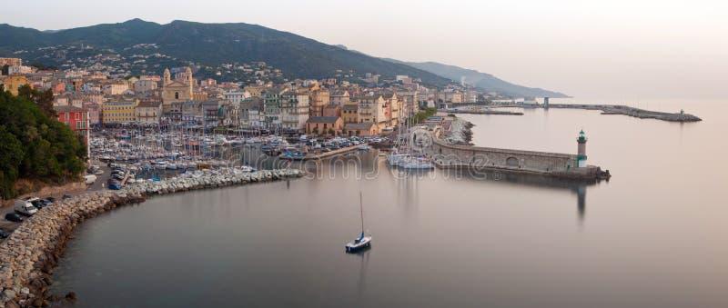 Bastia Corsica panorama- sikt royaltyfria bilder