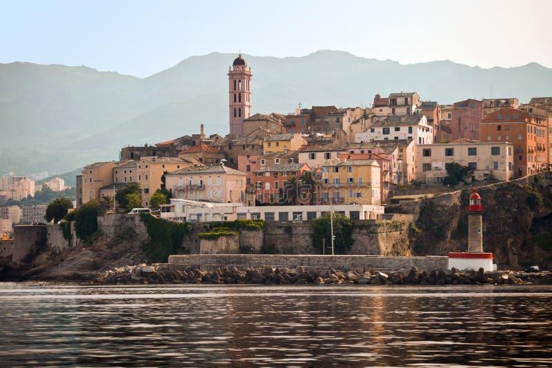 Bastia Corsica panorama- sikt royaltyfri foto