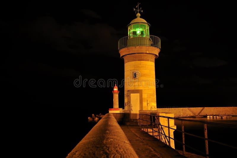 Bastia-Hafen-Leuchtturm lizenzfreie stockbilder