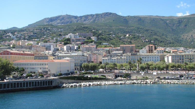 Bastia vom Meer lizenzfreie stockfotografie