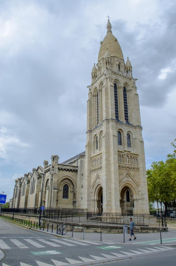 Bastide教会的圣玛丽在红葡萄酒,法国 免版税库存图片
