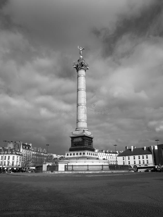 bastille θέση Λα στηλών de Ιούλιος στοκ εικόνες με δικαίωμα ελεύθερης χρήσης
