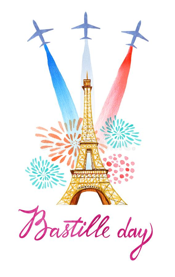 Bastille day french national day greeting card and poster design download bastille day french national day greeting card and poster design hand drawn watercolor m4hsunfo