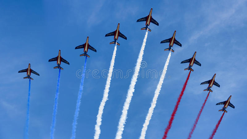 Bastille Day, Paris, 2017 royalty free stock images