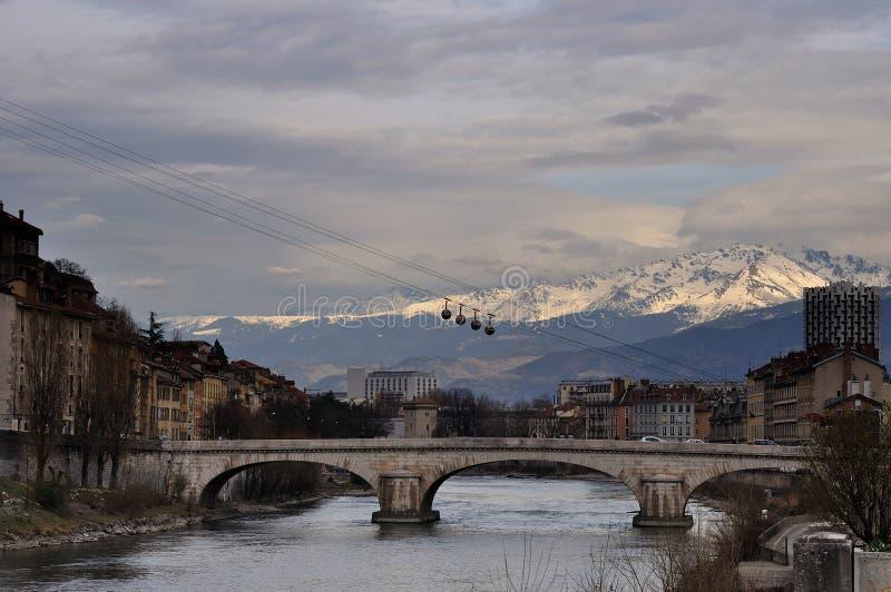 bastille Grenoble los angeles fotografia stock